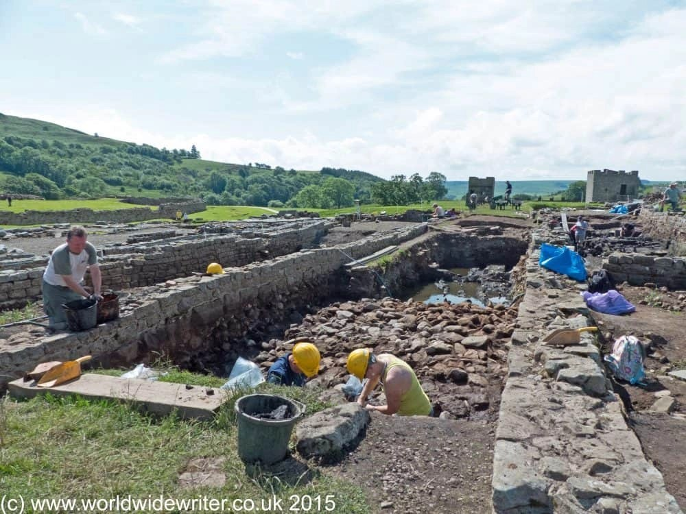Archaeologists at Vindolanda Roman Fort