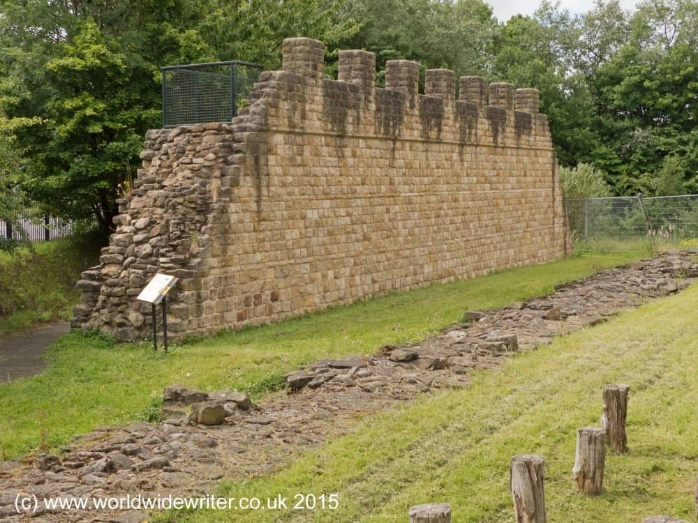 Hadrian's Wall at Segedunum Roman Fort
