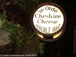 Ye Old Cheshire Cheese, London - www.worldwidewriter.co.uk