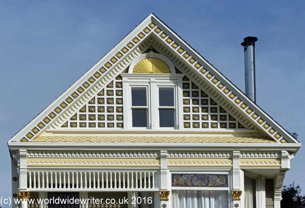 Architectural detail on the Painted Ladies