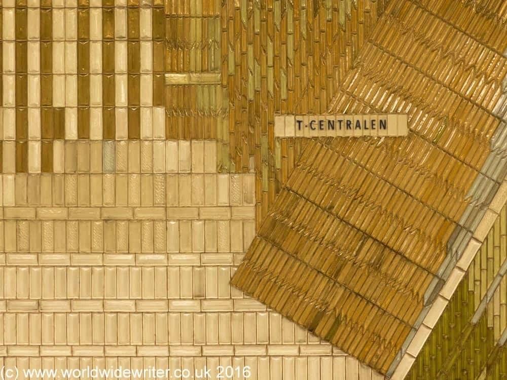 Tiles of T-Centralen Station, Stockholm
