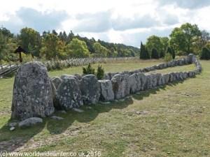Boat shaped grave at Gannarve, Gotland