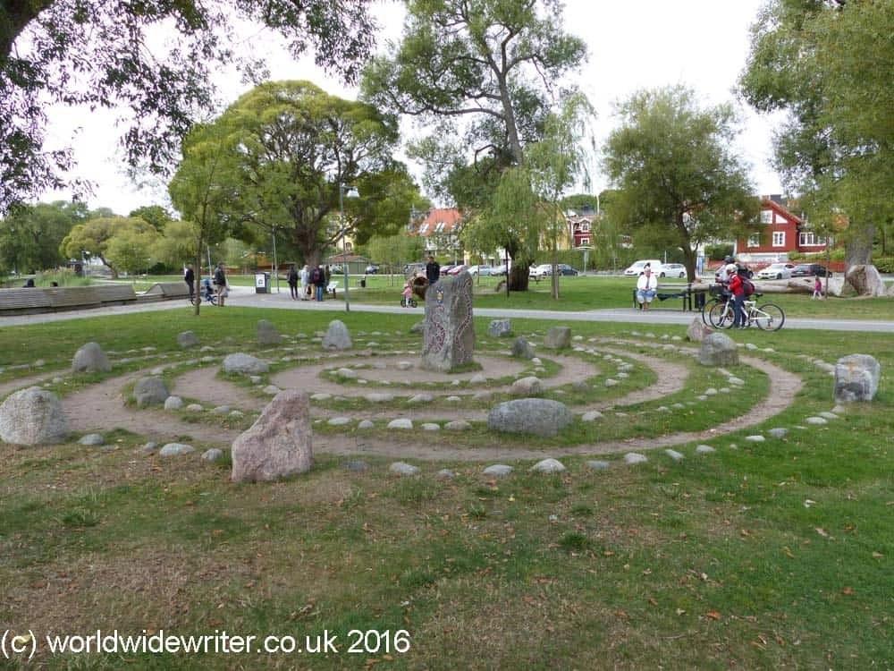 Stone labyrinth in Sigtuna