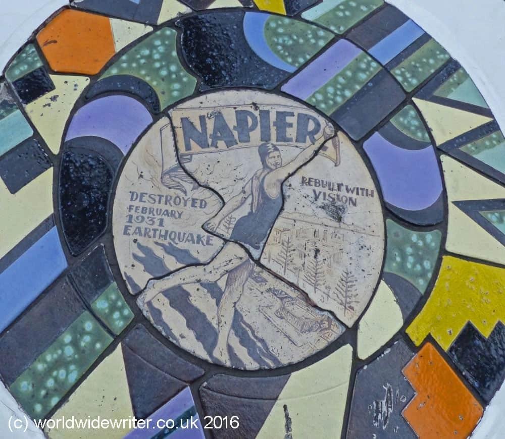 Plaque in Napier, New Zealand
