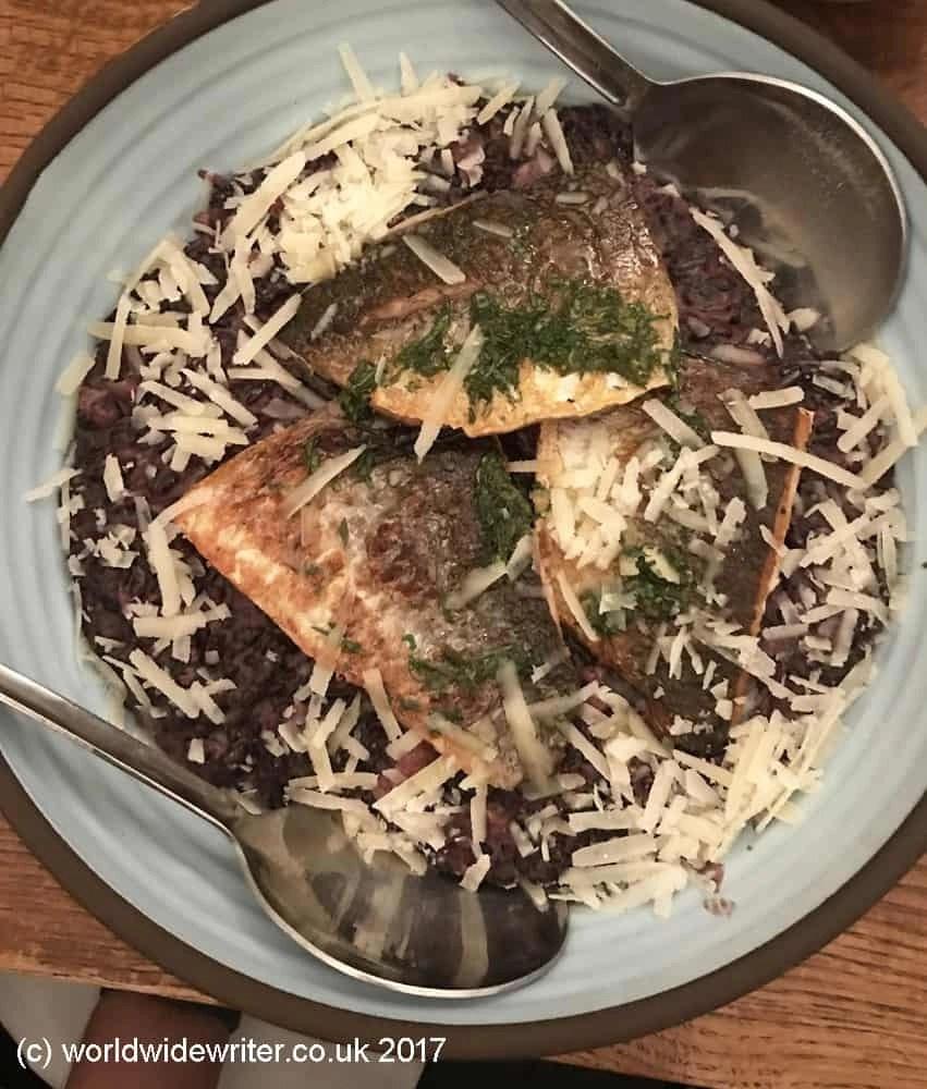 Fish at the Anna Italian Cafe, Jerusalem