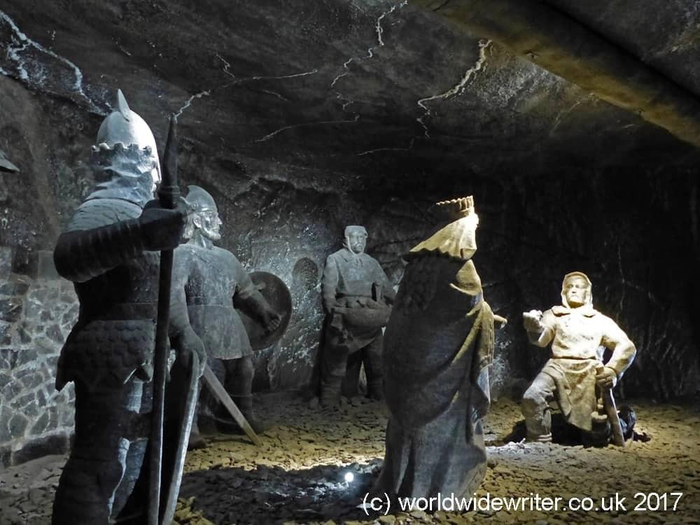 Statues in the Wieliczka Salt Mine