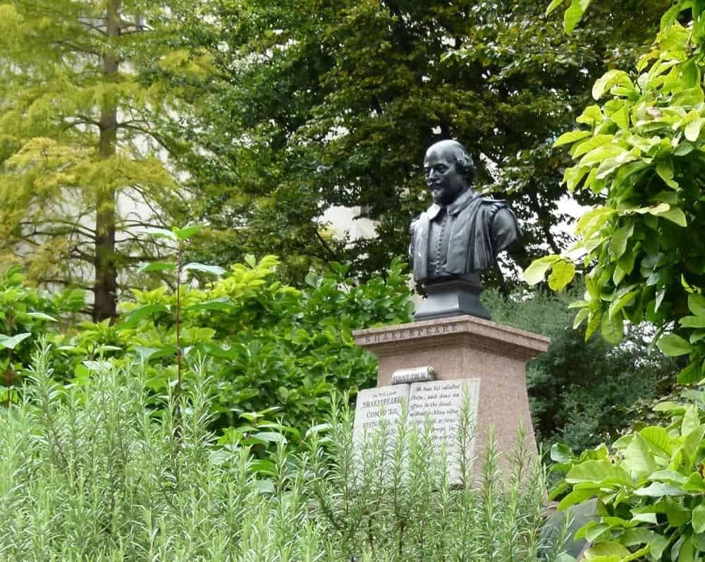 Shakespeare memorial at St Mary Aldermanbury