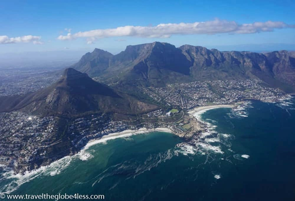 Helicopter ride, Cape Town
