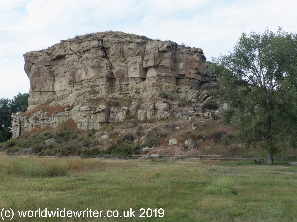 Pompeys Pillar, a gigantic sandstone outcrop