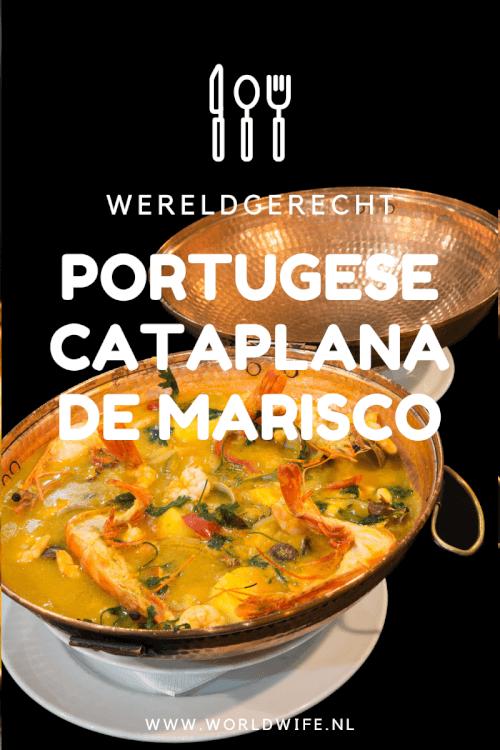 Recept voor Portugese cataplana de marisco. Dit overheerlijke gerecht uit Portugal kom veel tegen in de Algarve en in de omgeving van Lissabon #wereldgerecht