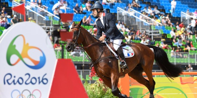 L'équipe d'équitation offre la première médaille d'or à la France dans ces Jeux. ©AFP