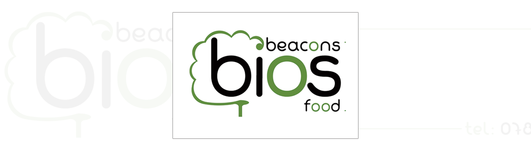 Logo design and corporate identity for Beacons Bios Food.