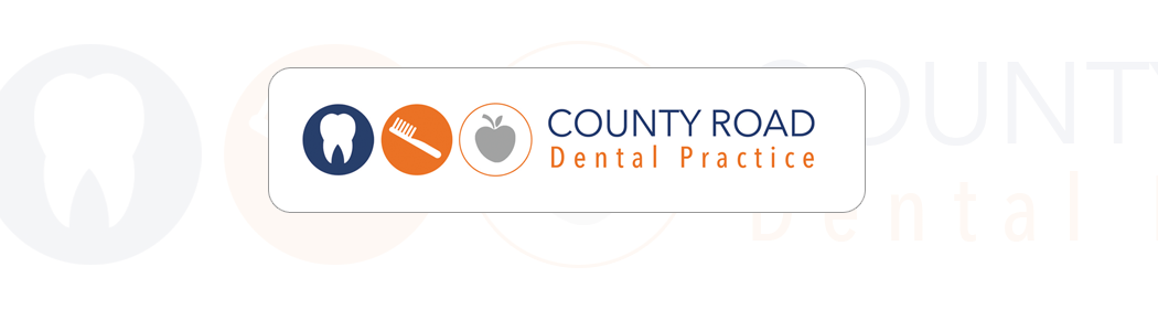 Logo design and corporate identity for County Road Dental Practice.