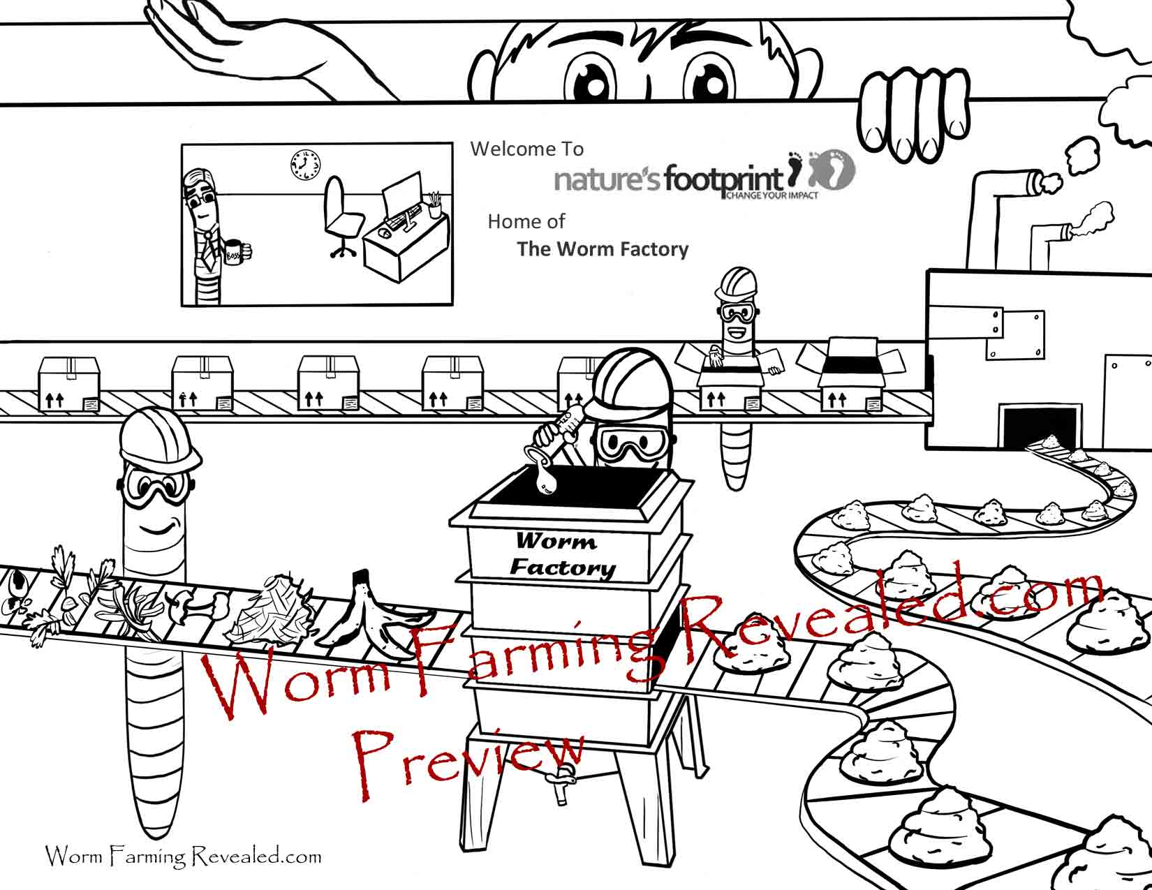 Worm Coloring Pages
