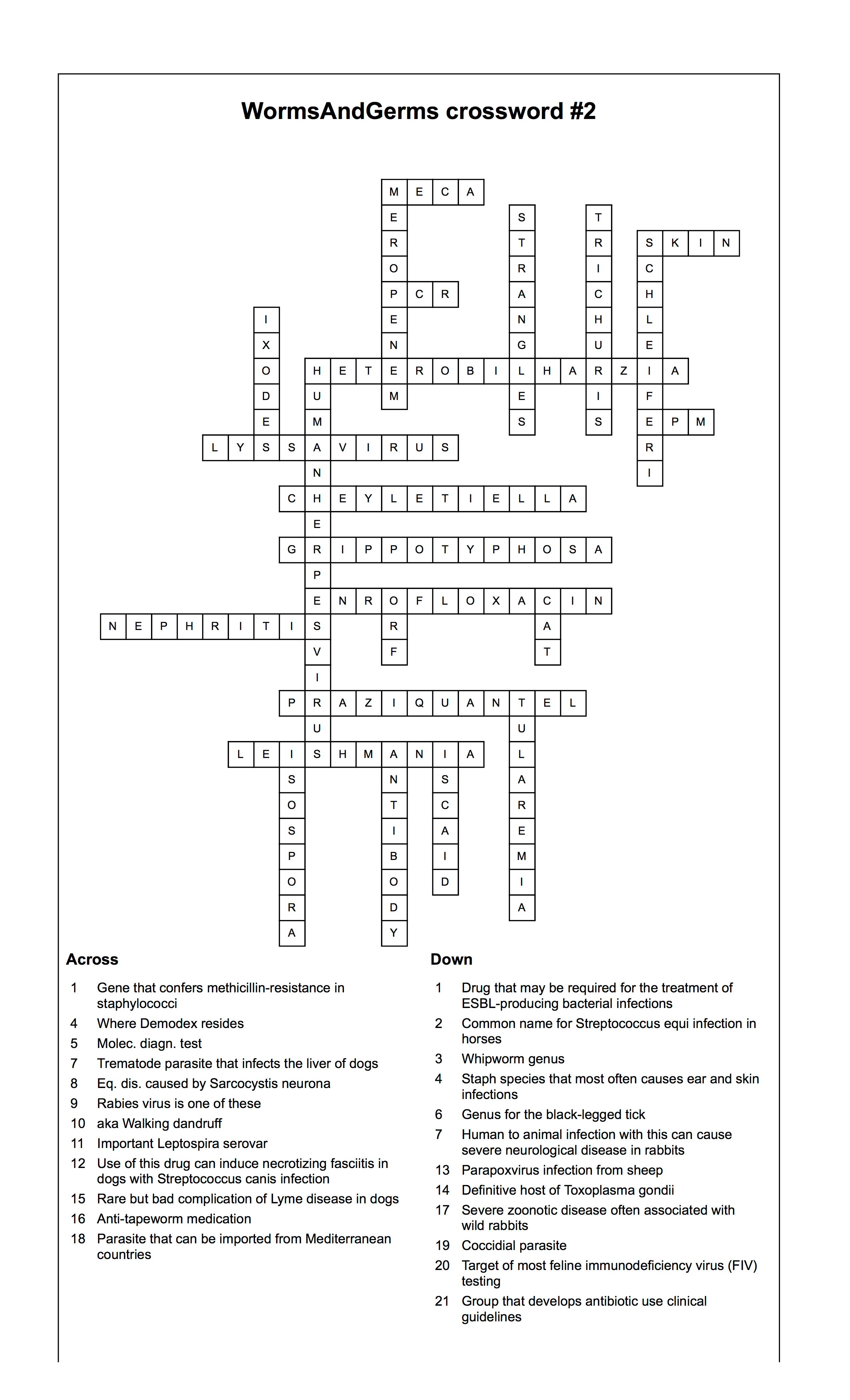 Crossword 2 Answers