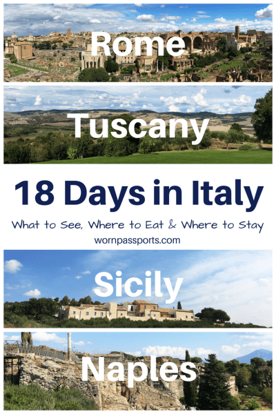 2 weeks in Italy: Travel guide to visit Rome, Tuscany, Naples & Sicily. Best activities, restaurants & hotels. | wornpassports.com