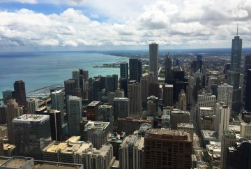 View of Chicago skyline from Signature Lounge | John Hancock Tower | Chicago | Illinois