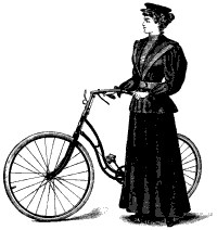 Woman in convertible cycling costume, loose. 1895