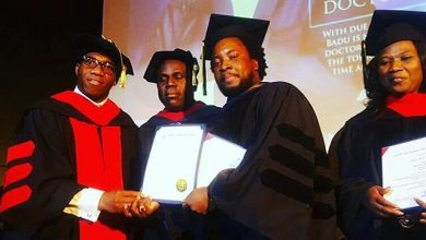 Photo of SONNIE BADU HONOURED WITH HONORARY DOCTORATE DEGREE