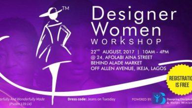 Photo of Ladies, Plan To Attend The Designer Women Workshop #DWW, Aug 22 | @designerwomen_