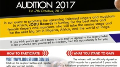 Photo of Emerging Record Label, JODU Records Holds Auditions To Sign Talented Artistes @jodurecords