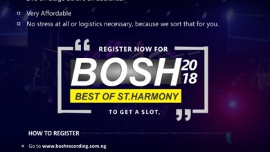 Photo of BOSH 2018 Is On, Limited Slot Available For Artiste! @StHarmonyproductions