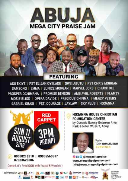 Maiden edition of Abuja Mega City Praise Jam