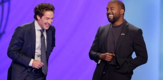 kanye-west and joel-osteen
