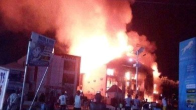 Photo of Midnight Fire Ruins Electronic Shop In Kogi State.