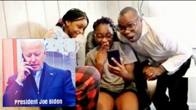 Photo of Watch Interesting Moment Joe Biden Calls Nigerian Family, To Thank Them For Their Support.