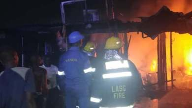 Photo of 70 Shops Destroyed In Lagos Market Fire.