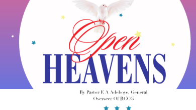 Photo of PRAYER POINTS FOR OPEN HEAVENS 22 MARCH 2021