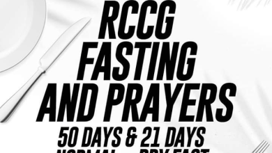 Photo of RCCG FASTING PRAYER POINTS 13 JANUARY 2021