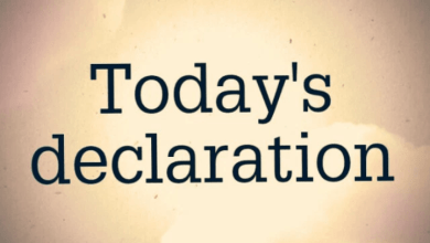 Photo of DAILY DECLARATIONS FOR TODAY 4 JUNE 2021