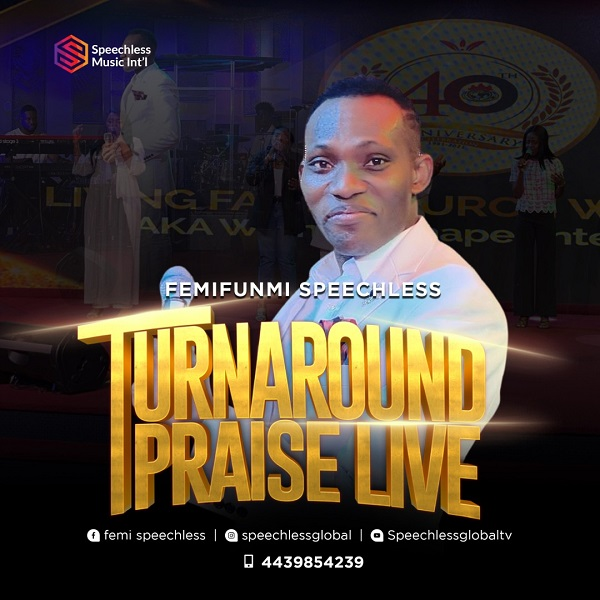"""US based artistes known as FemiFunmi Speechless drops a new praise sound with a follow up music video themed """"Turn-Around Praise Live""""."""