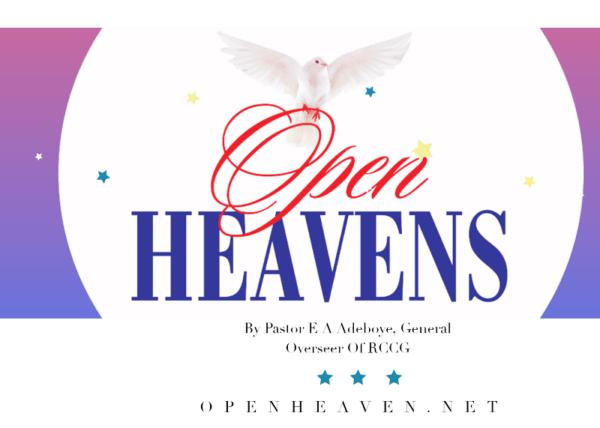 PRAYER POINTS FOR OPEN HEAVENS 2021