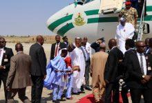 Photo of President Buhari Arrives Maiduguri For Official Visit