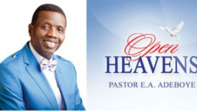 Photo of OPEN HEAVEN 3 SEPTEMBER 2021 FRIDAY: GOD'S SPECIAL ABODE AND WORKSHOP