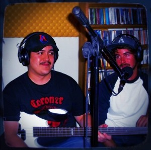 Joe Kuster, bass, and Jesse Johnson, drums, for Countress - a Reno NV metal/hardcore band.