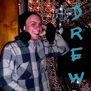 Drew Ernhout - singer and guitar player - smiling