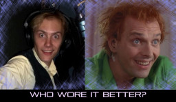 Drew Ernhout of Small Drawings has a similar creepy look to Rick Mayall in Drop Dead Fred