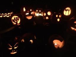 a mess 'o jack'o'lanterns