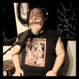 Freddie Ferox of Reno metal band Murderock posing for the camera at Dogwater Studios.