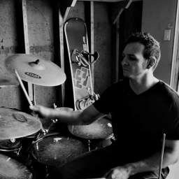 Hurricane Grimes playing the drums