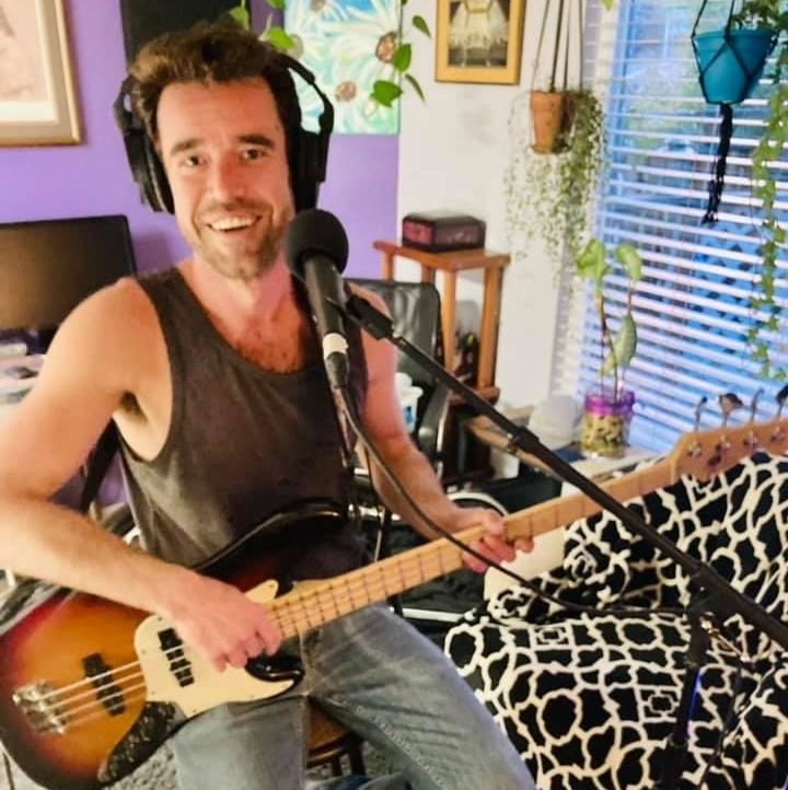 Brendon Lund, Smiling broadly and holding his bass