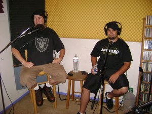 Josh Martin of the Worst Little Podcast and Mike Martinez of Del Mar at the Dogwater Studios