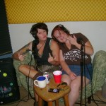 Mallory Mishler and Jess Blaze at the Dogwater Studios