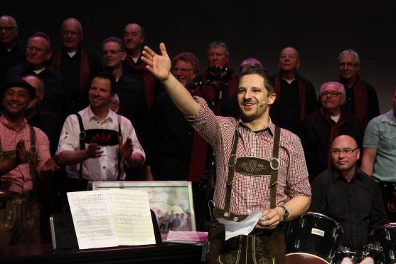 Marcus Bojahr bekleidete bei den Spielszenen eine der Hauptrollen und übernahm die Moderation (Foto: Björn Othlinghaus)