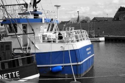 Am Greetsieler Hafen. Foto: Björn Othlinghaus