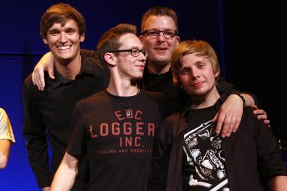 Big Stroke freuen sich über den Gewinn des Bandcontests. Foto: Björn Othlinghaus